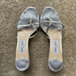 [Jimmy Choo] Silver Strappy Shoes